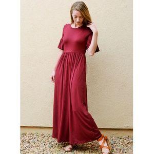 NWT Burgundy Maxi Dress by Reborn J